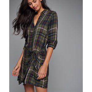 Abercrombie Wrap Front Tie Plaid Dress